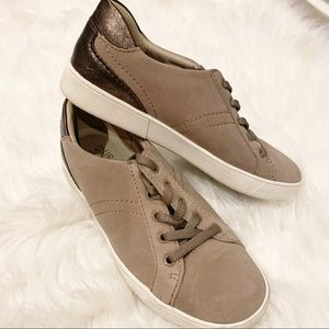 Naturalizer Morrison Taupe Lace Up Sneaker 7